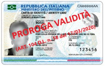 proroga validità carta d'identità