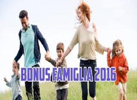 bonu famiglia 2016