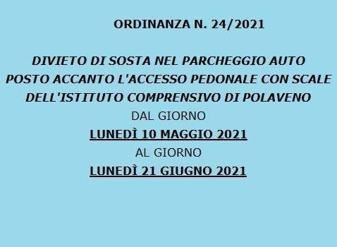 Ordinanza 24/2021